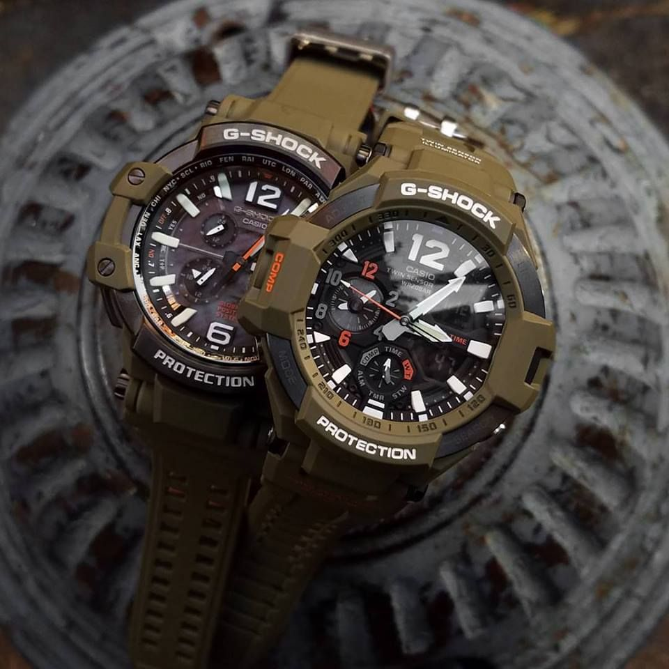 G Shock Olive Ga 1100kh 3a And Gpw 1000kh With Gps Casio Gshock Original Gd 100ms 3er Limited Colorway 2