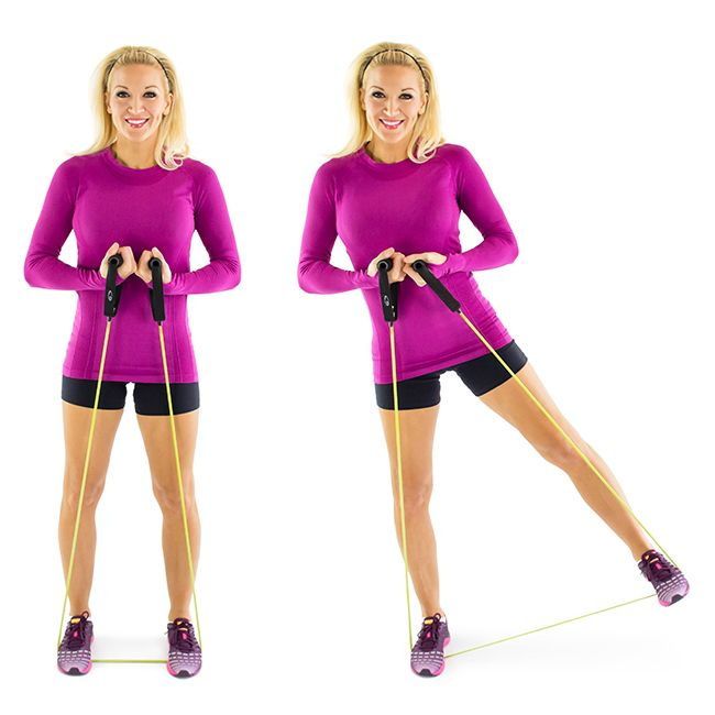 Resistance Band Full Body Workout. Easy To Do In The