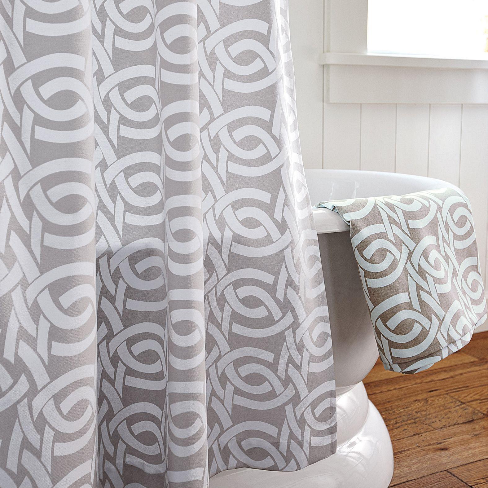 Highland knot shower curtain u dove grey bathrooms pinterest