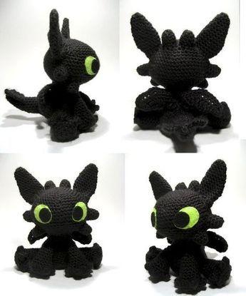 Toothless amigurumi pattern | Disney crochet patterns ...