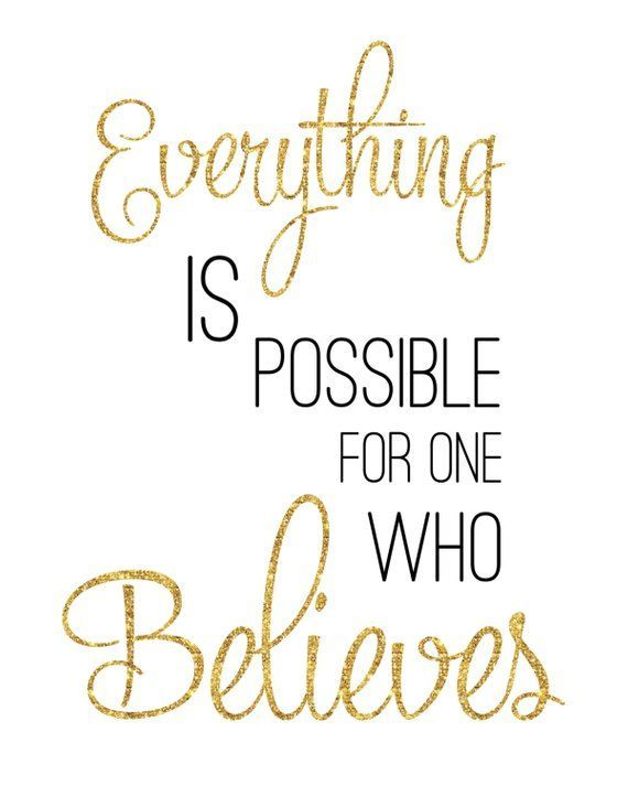 Faith Print / Everything Is Possible for One Who Believes / Jesus Print / Faith Wall Art / Bible Pri