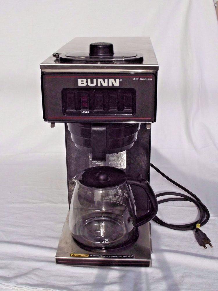 Bid Now 1 Day Sale Bunn Coffee Maker Commercial Single Burner Vp