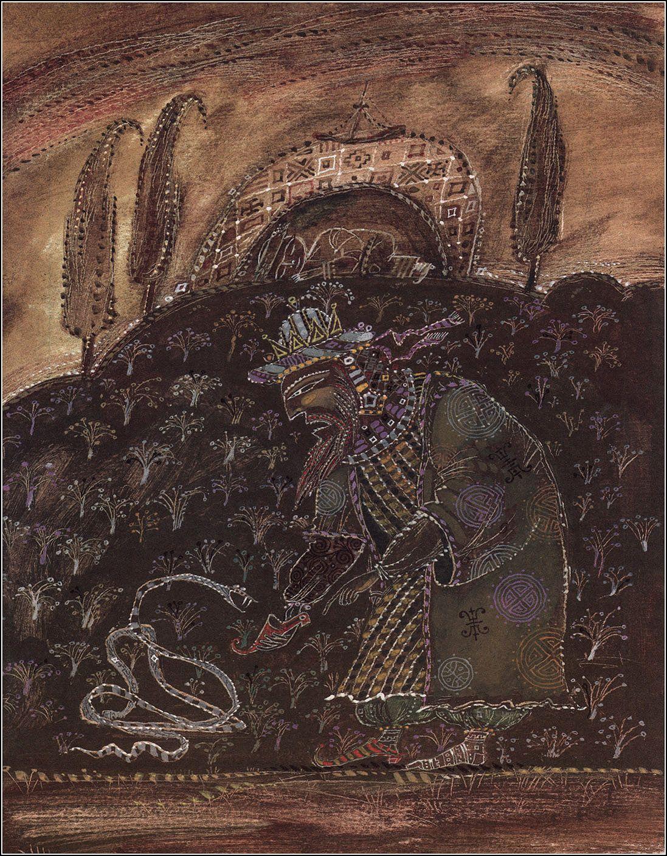 Azerbaijani folk tales. Illustrator Elchin Mamedov.