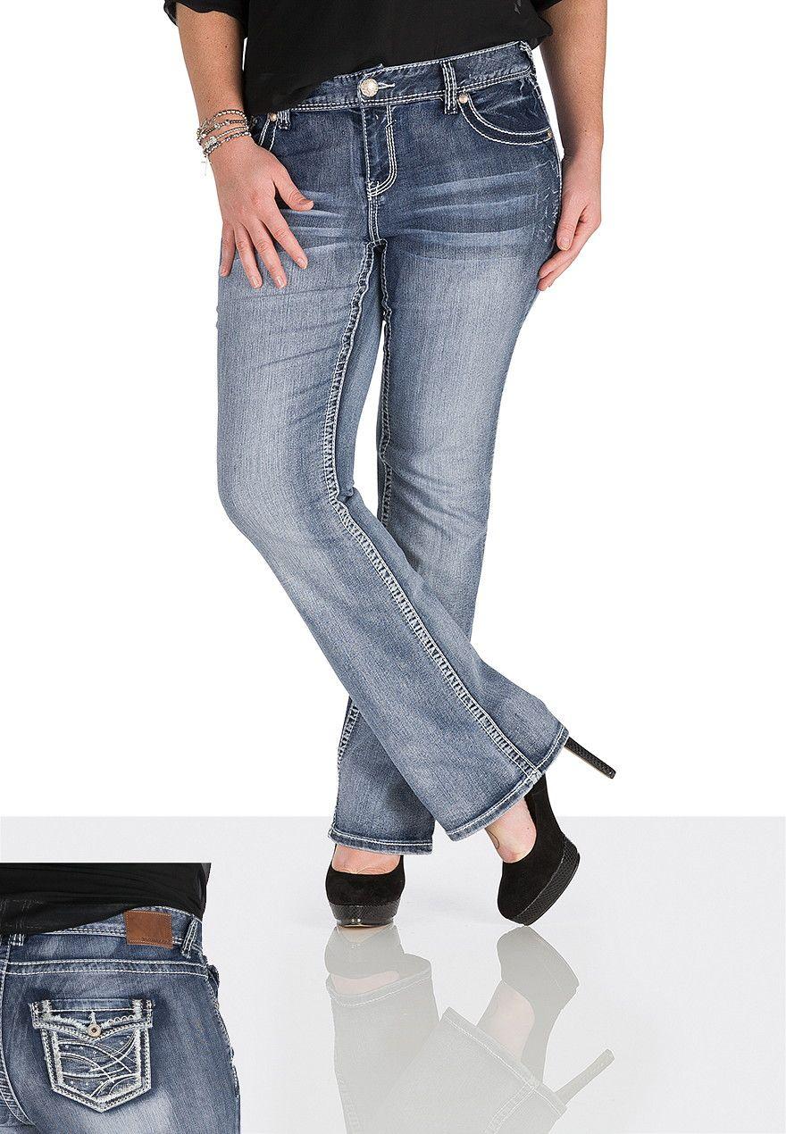Denim Flex ™ Medium Wash Embellished Jeans - maurices.com