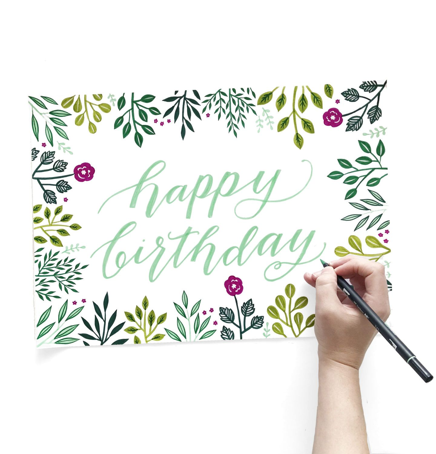 Create A Birthday Card And Envelope With One Sheet Of Paper