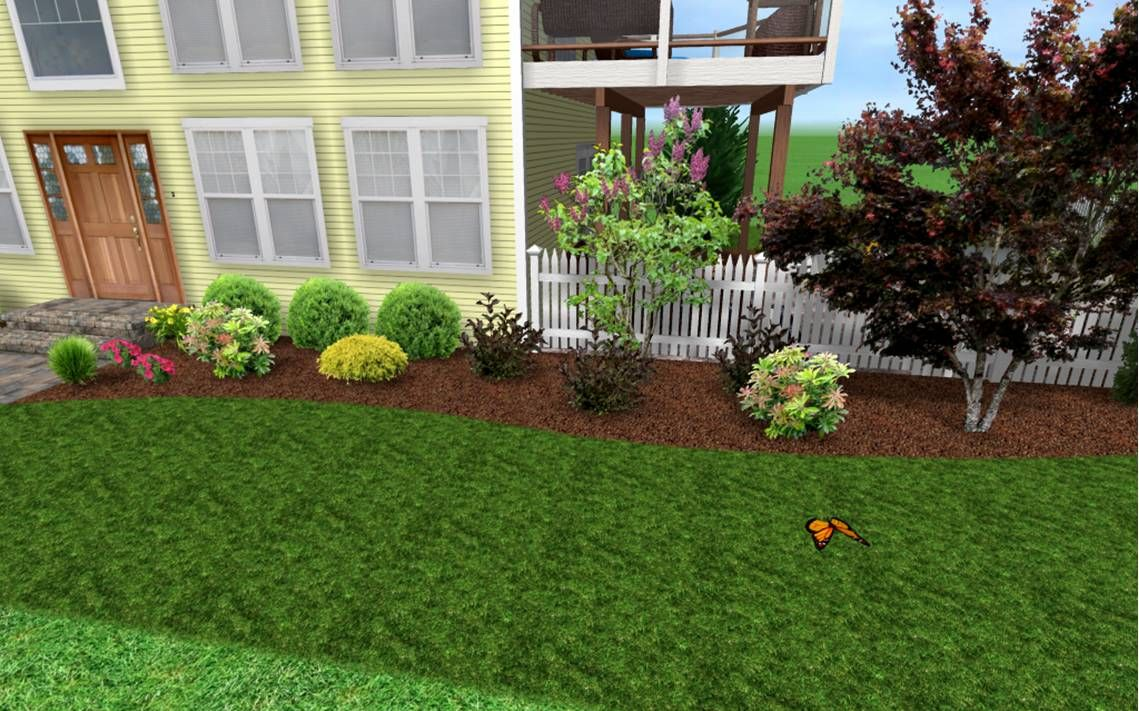 Low maintenance landscaping ideas design picture for Front yard bush ideas