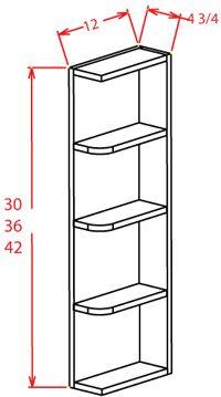 Gunnison Raised Panel Wall End Shelf 6 W X 36 H 12 D 3s Rta Cabinet
