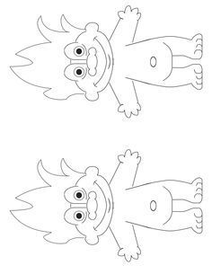 Troll Doll Coloring Books Sketch Page