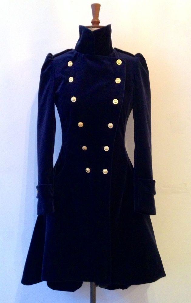 b82c27be46c Velvet frock coat Steampunk Jacket