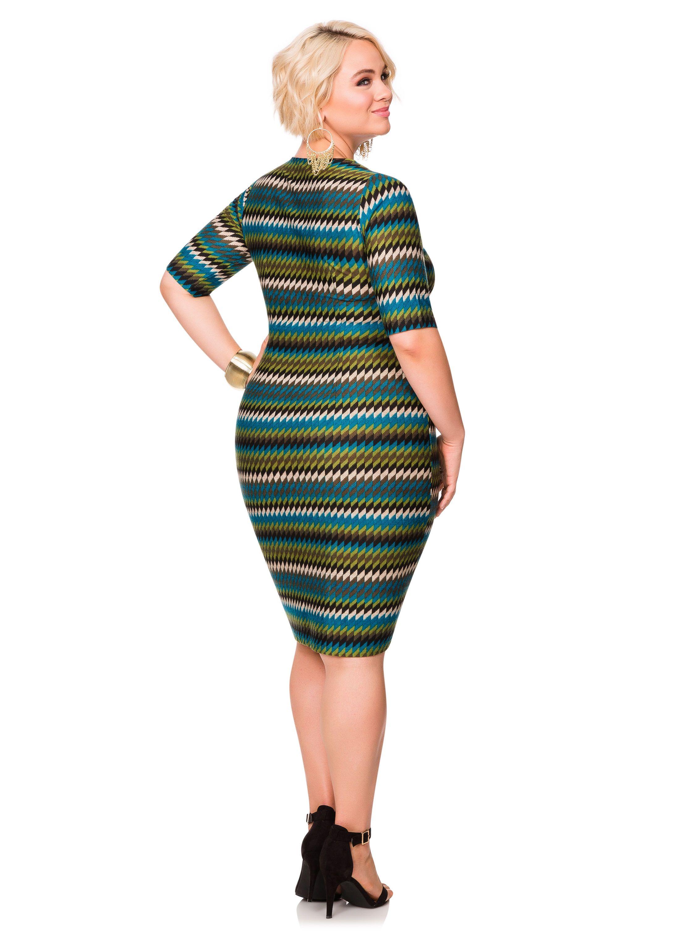 403e2eadc2 Cowl Neck Zip Detail Sweater Dress - Ashley Stewart