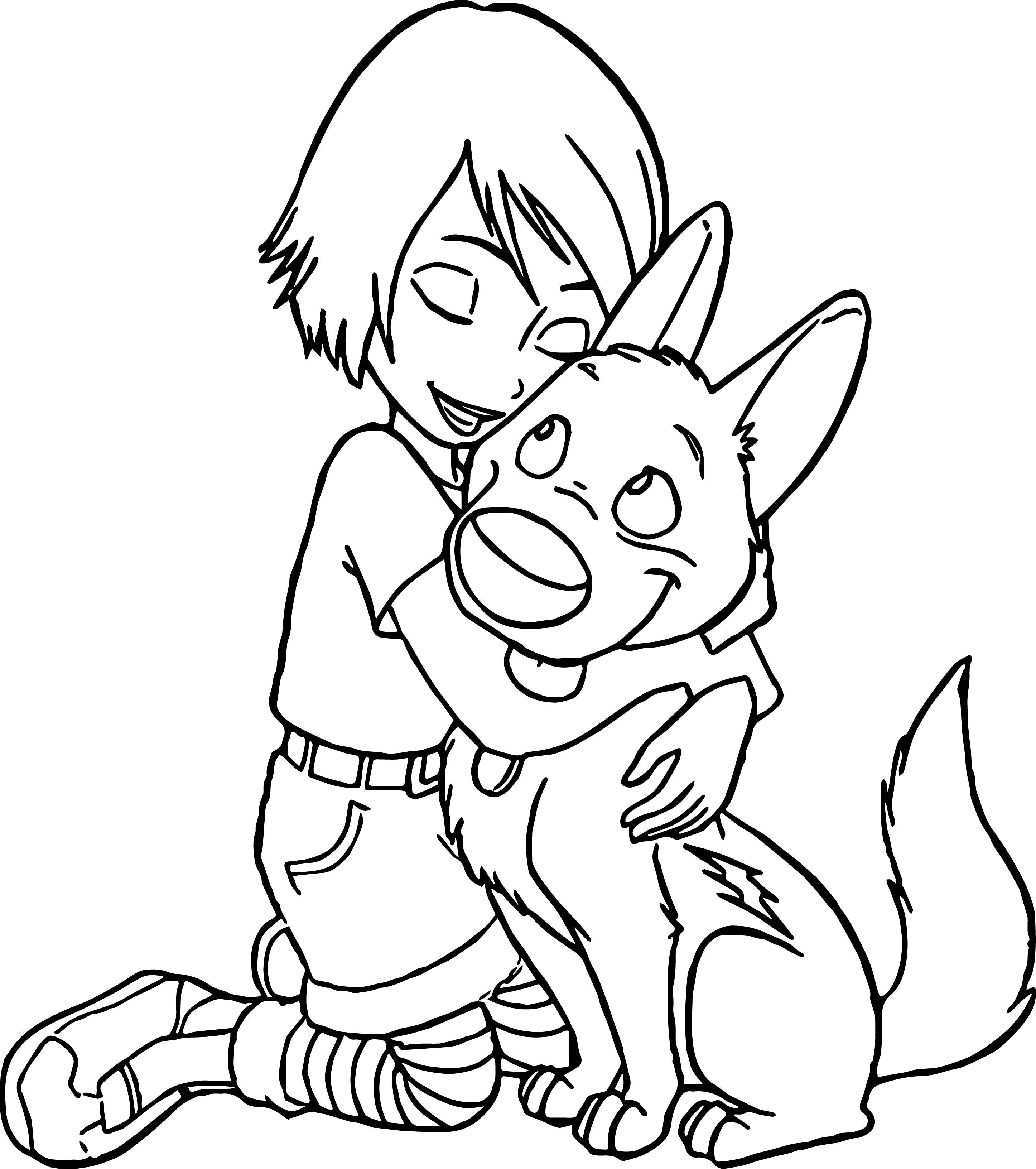 Bolt Dog Coloring Pages | wecoloringpage | Pinterest