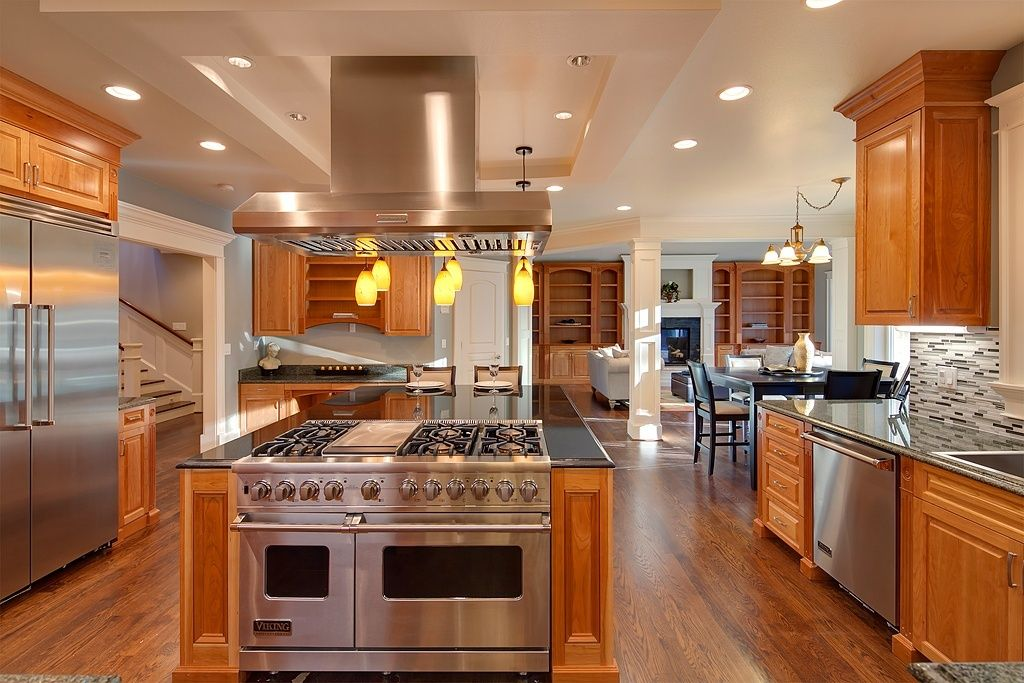 Chef 39 s dream kitchen google search lake house kitchen for Traditional home kitchen ideas