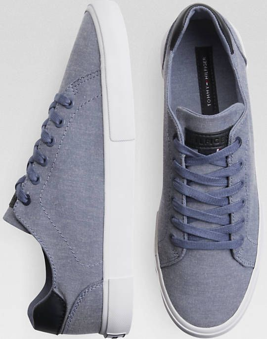 new product 2d298 3a9a3 Tommy Hilfiger Light Blue Tennis Shoes - Mens Casual Shoes, Shoes - Men s  Wearhouse