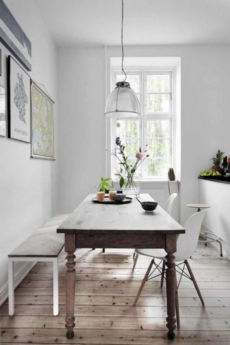 36 Admirable Scandinavian Dining Room Design Ideas Narrow Dining Tables Apartment Dining Dining Room Small