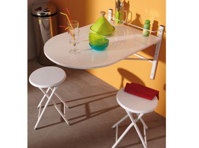 Table Murale Repliable 3 Suisses | Petit Espace | Pinterest