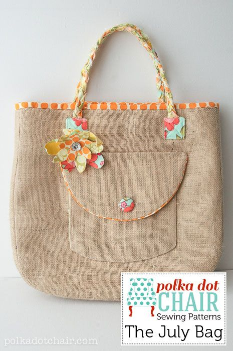 The July Bag Sewing Patterns, a handbag sewing pattern