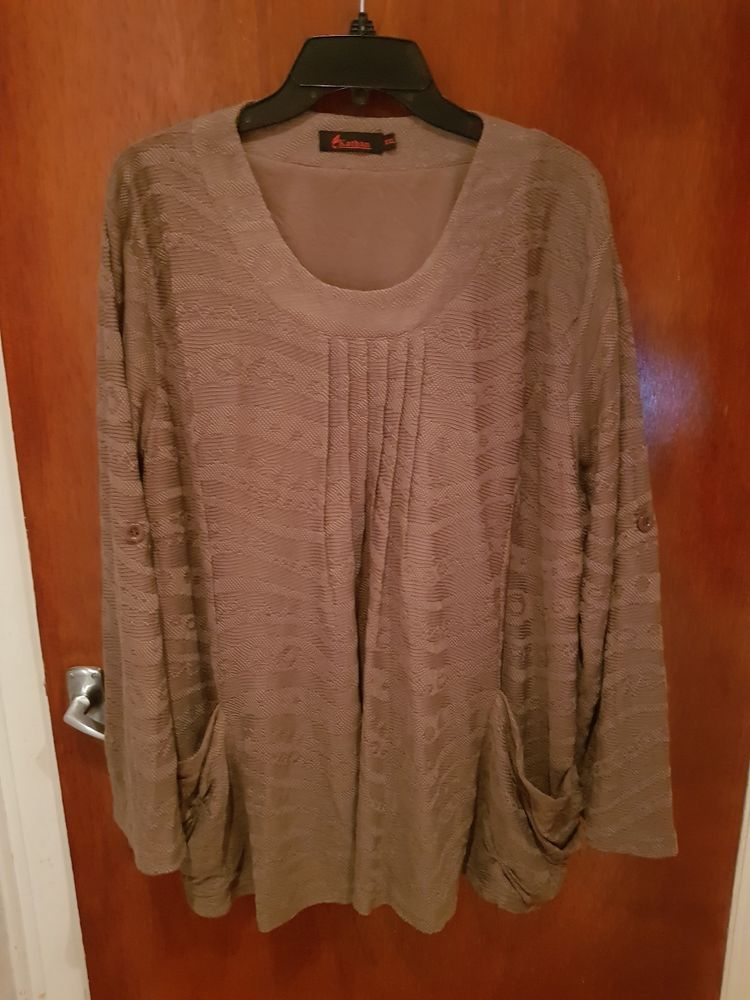 14e496975 TK Maxx Kathan Jumper with inside lining Women s UK size XXL Brown NWOT   fashion