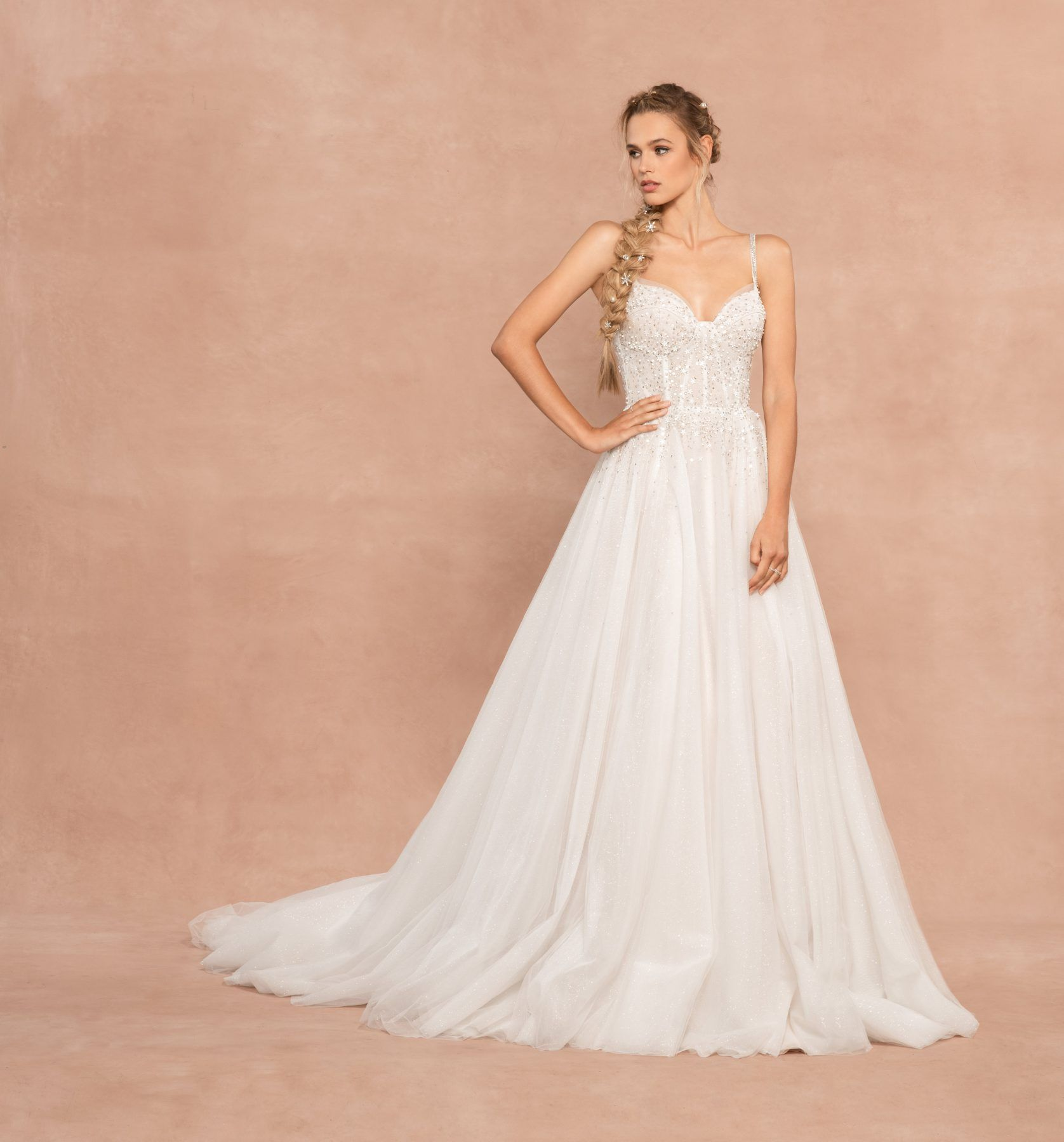 Spaghetti Strap Sweetheart Neckline Aline Wedding Dress