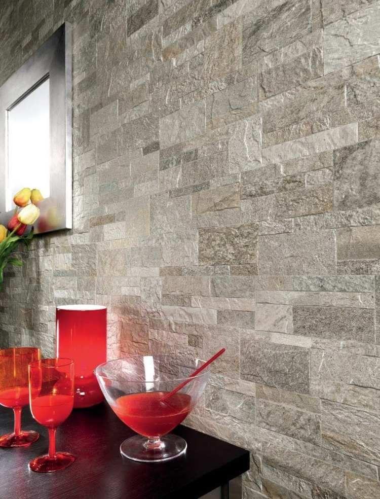 Wandfliesen In Steinoptik Rockstyle R Silver Von Fiordo | Home U0026 Interior |  Pinterest | Wandfliesen, Steinoptik Und Steinwand