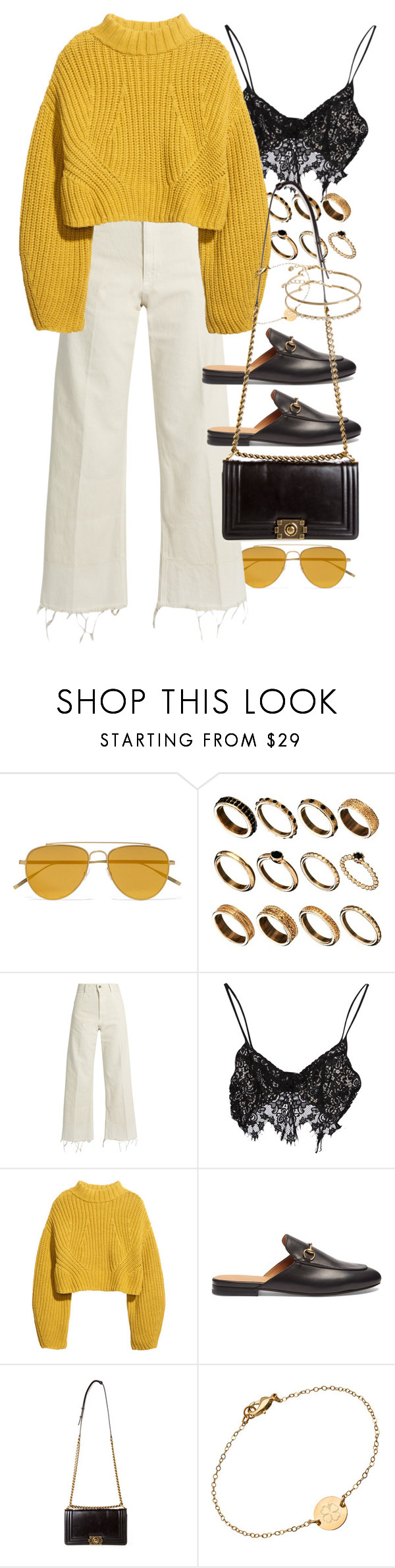 """Untitled #10461"" by nikka-phillips ❤ liked on Polyvore featuring Tomas Maier, ASOS, Rachel Comey, For Love & Lemons, H&M, Gucci, Chanel and Miriam Merenfeld"