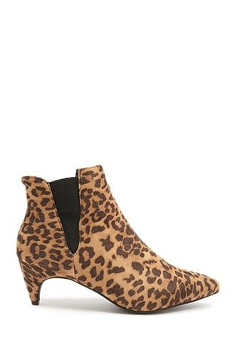 13f35a4b701e Faux Suede Cheetah Print Booties | Products in 2019 | Boots, Cheetah ...