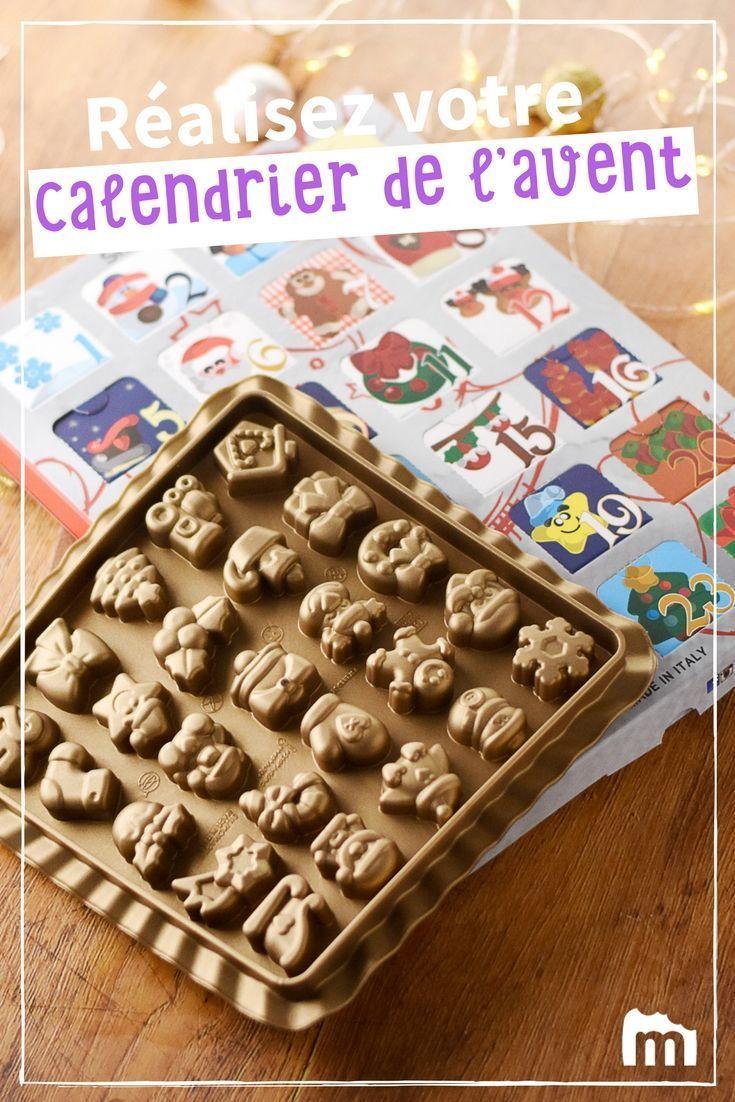 Un calendrier de l'avent fait maison ! Réalisez vos chocolats ou petits cadeaux, placez-les dans les cases que vous souhaitez et le tour est joué... On en connaît qui vont être contents ! Personnalisez votre calendrier de l'avent avec ce que vous préférez... La calendrier de l'avent Silikomart vous permet de réaliser vous même 25 chocolats et de les disposer dans le calendrier de l'Avent contenu dans ce lot. Idéal pour faire patienter les enfants qui rêvent déjà du jour J ! #calendri