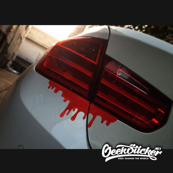 Free Shipping Pcslot Cool Blood Reflective Car Sticker Tail - Cool car window decals