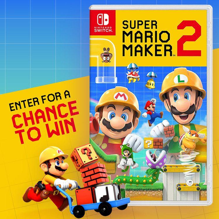 Win Super Mario Maker 2 Nintendo Switch Nintendo Switch Super Mario Nintendo Switch Games Super Mario