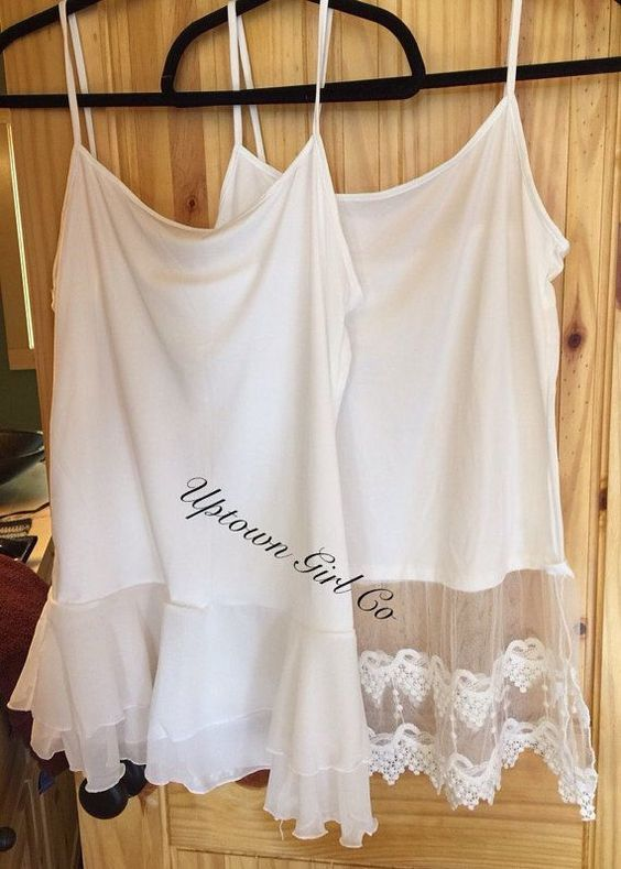 Womens Camisole slip Lace Tank Top extender,Vintage Cami Lace Shirt Extenders