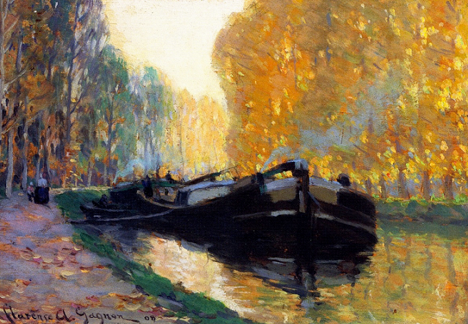 Clarence Gagnon: Canal Boat, 1908