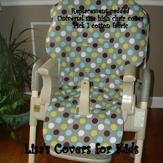 Baby Universal Fit High Chair Cover Padded Replacement You Etsy Highchair Cover Baby Trend Cool Baby Stuff