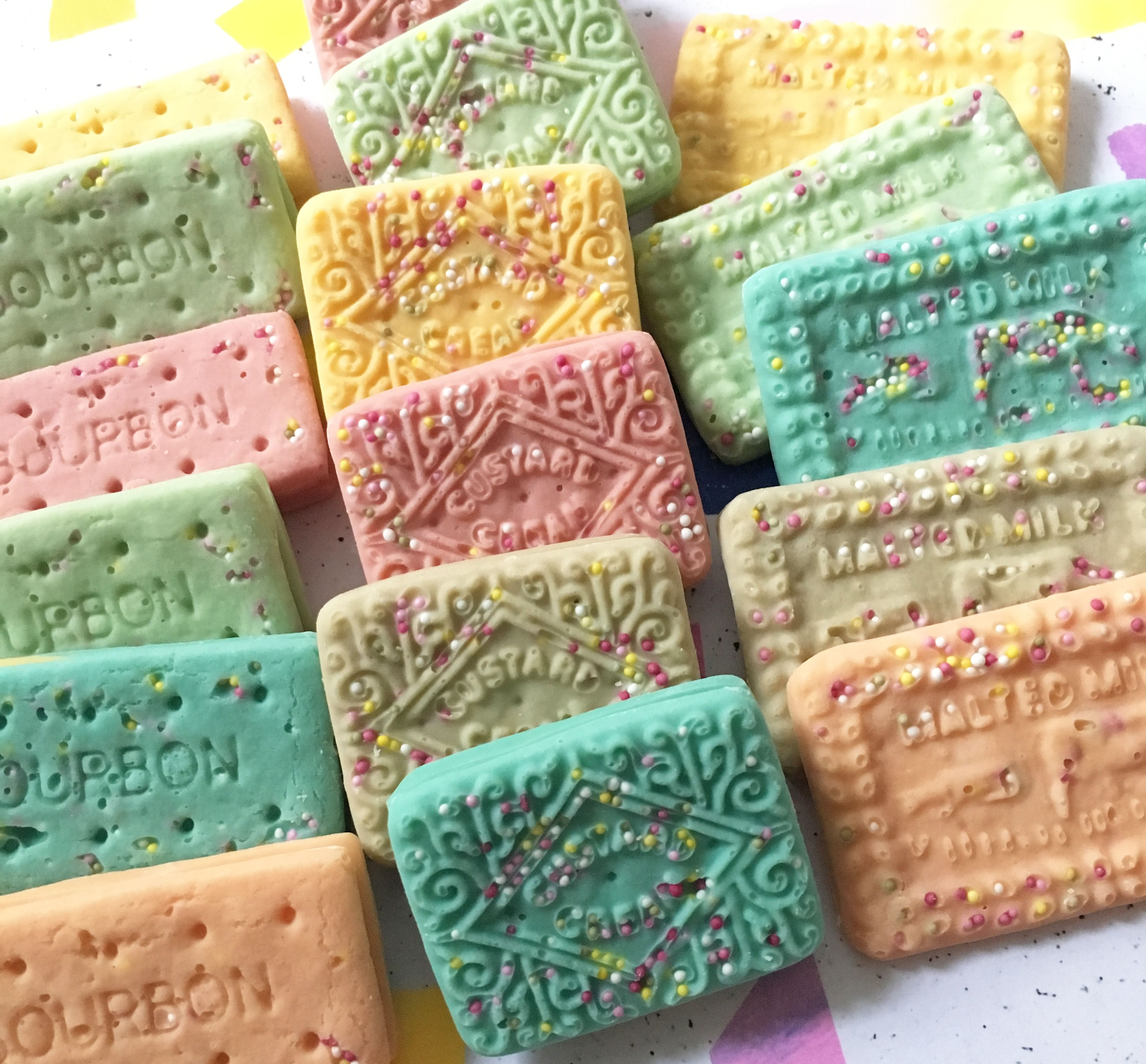 Sprinkle Biscuit Shaped Chocolates 9 50 Chocolate Handmade Chocolates Rainbow Sprinkles