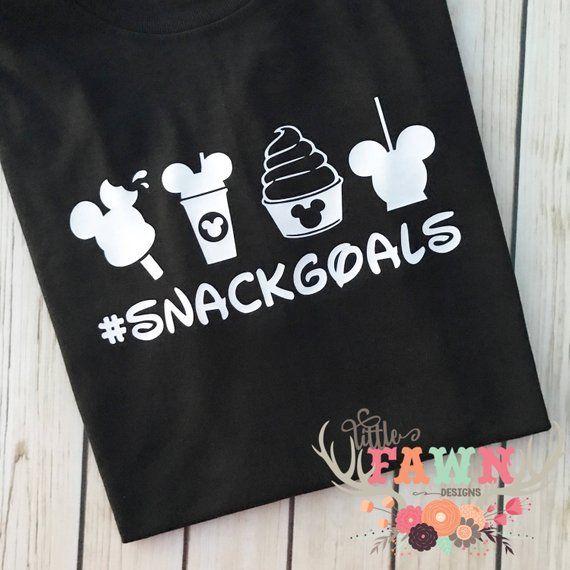 7ef40ba08 Disney Snack Goals Shirt - Food and Wine - Disneyland - Disney World - Mickey  Mouse - Minnie Mouse -
