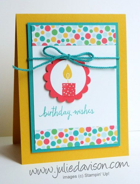 It has been a busy month at my house our summer schedule is a julies stamping spot stampin up project ideas by julie davison stampin up build a birthday card bookmarktalkfo Gallery