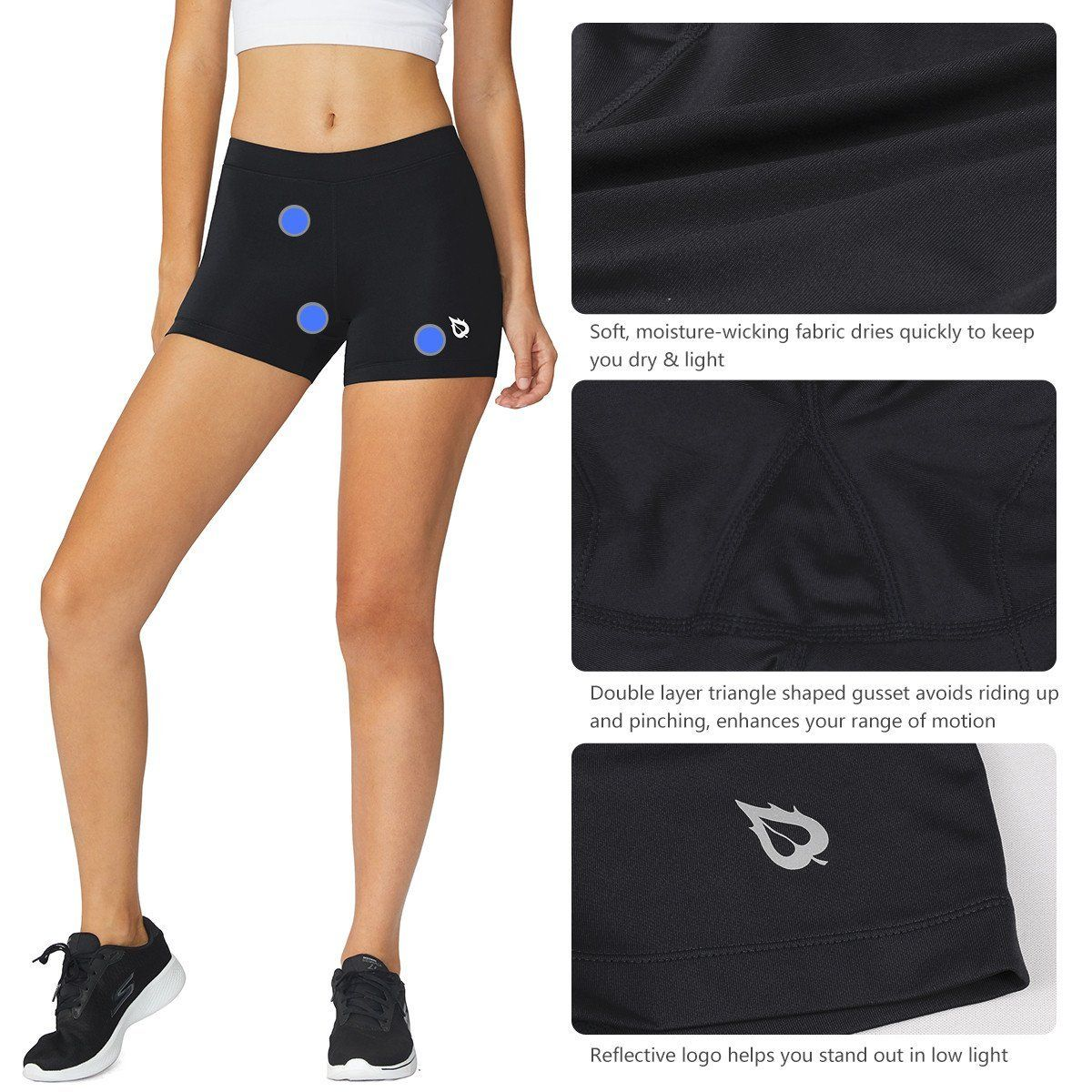 Baleaf Womens 3 Active Fitness Volleyball Shorts Black Size S Learn More By Visiting The Image Link It Gym Shorts Womens Workout Spandex Volleyball Shorts