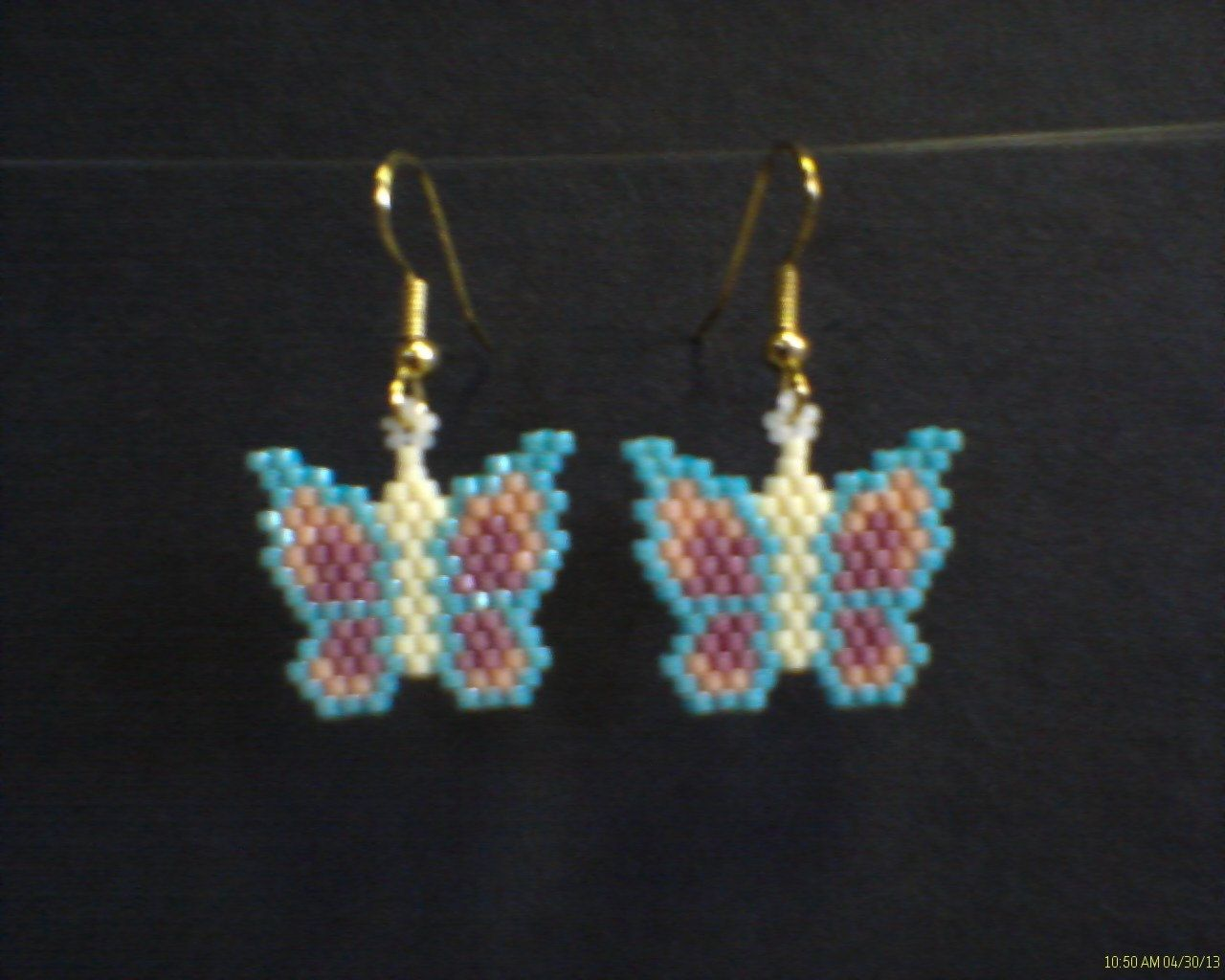 Seed bead ring ideas 5 nationtrendz com - Seed Beaded Pastel Butterflies In Brick Stitch By
