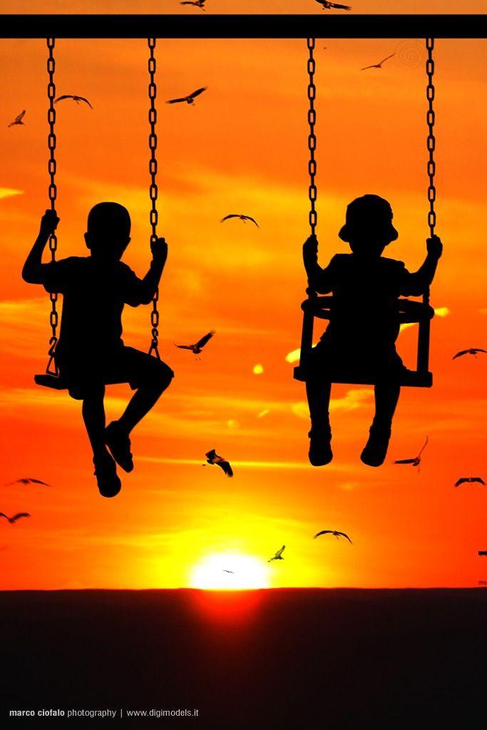 Columpios. | Pequeños del Futuro | Pinterest | Swings, Silhouettes ...