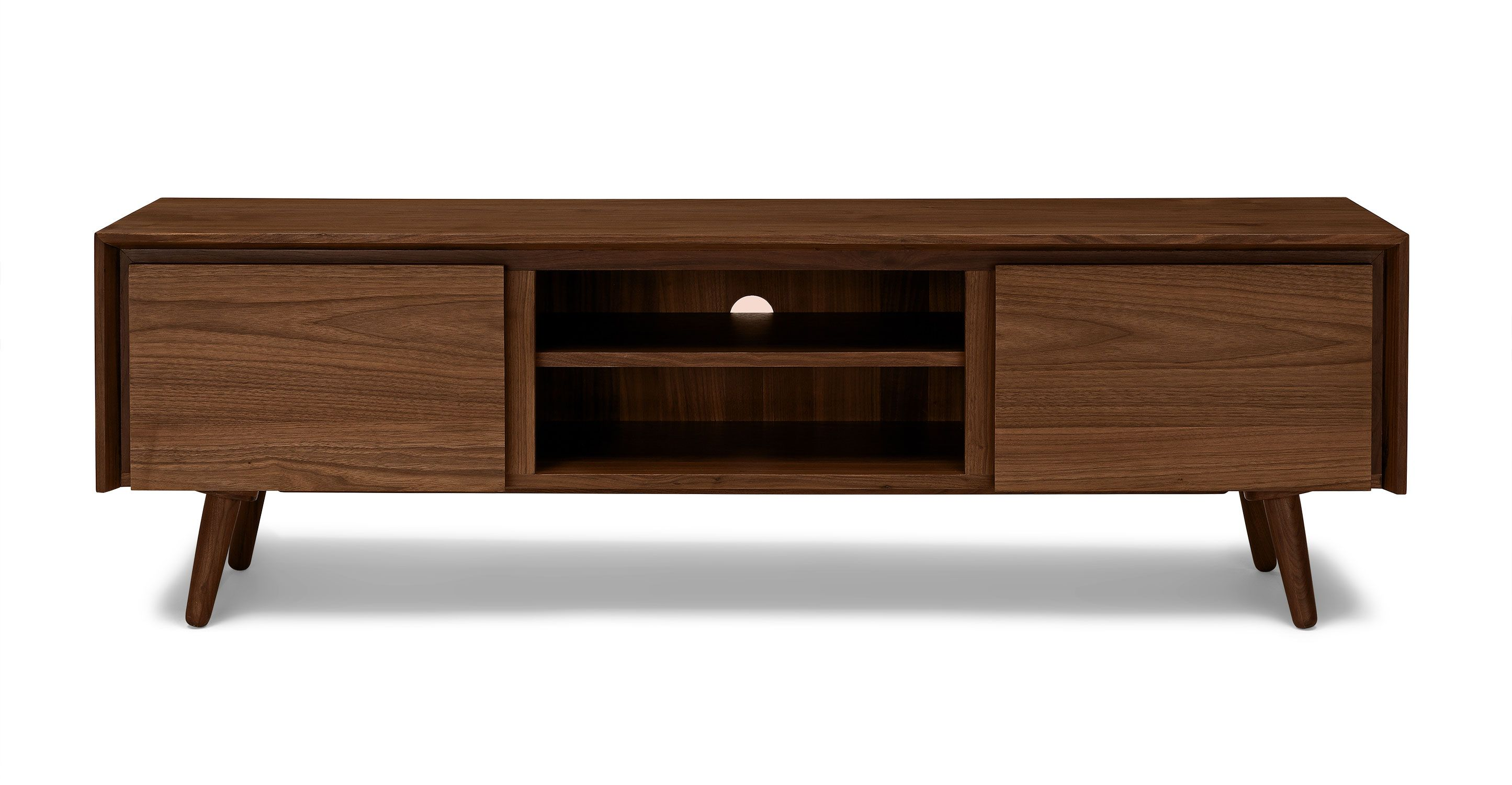 63  Wide TV Unit in Walnut Wood   Article Seno Modern Furniture. 63  Wide TV Unit in Walnut Wood   Article Seno Modern Furniture