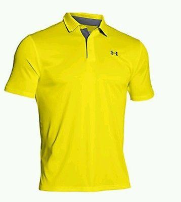 mañana costilla éxtasis  NWOT!! Under Armour Heatgear Loose Mens Neon Yellow Polo Size XL   Casual  shirts for men, Casual shirts, Mens shirts