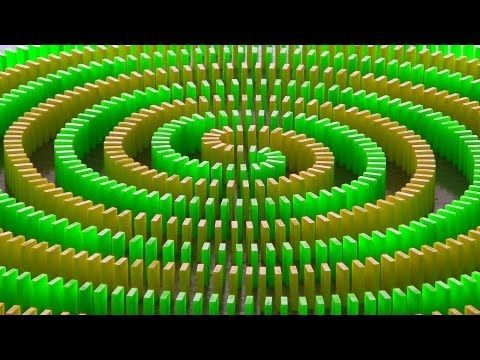 Ever Thought About How Planning For Mathematics Can Be Like - Video dominoes falling reverse simply mesmerizing