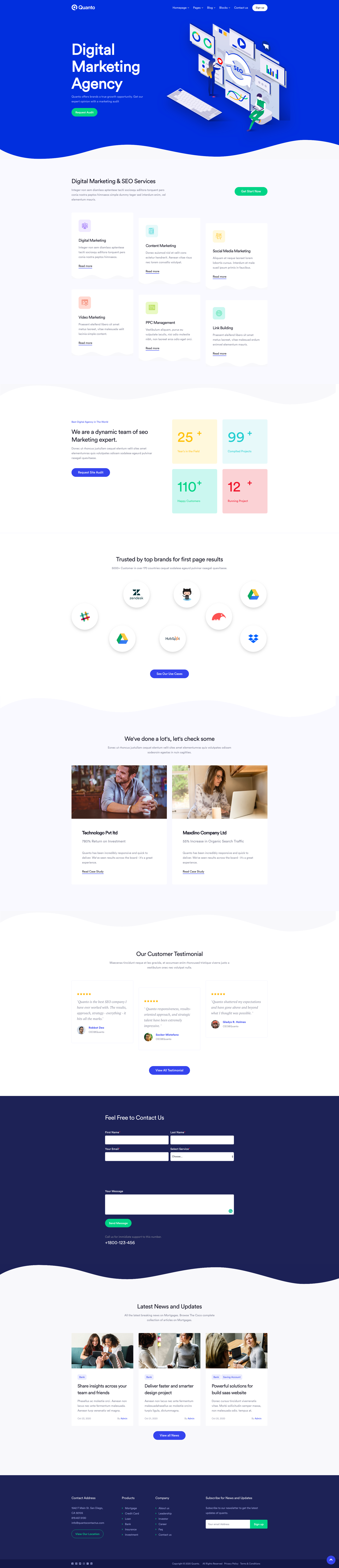 Digital Marketing Website Design Template 2020 In 2020 Marketing Website Website Template Design Digital Marketing