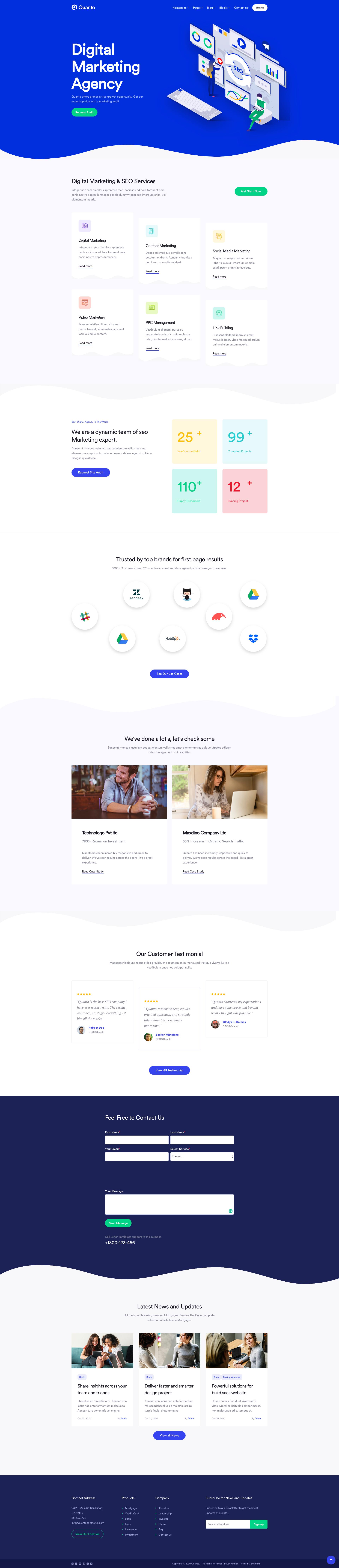 Digital Marketing Website Design Template 2020 In 2020 Marketing Website Website Template Design Digital Marketing
