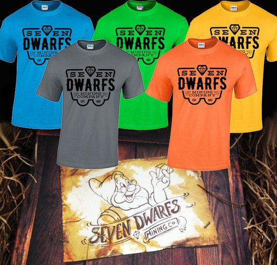 126cd646b Seven dwarfs mining company tee shirt mine coaster shirt disney world  disneyland Snow White and the