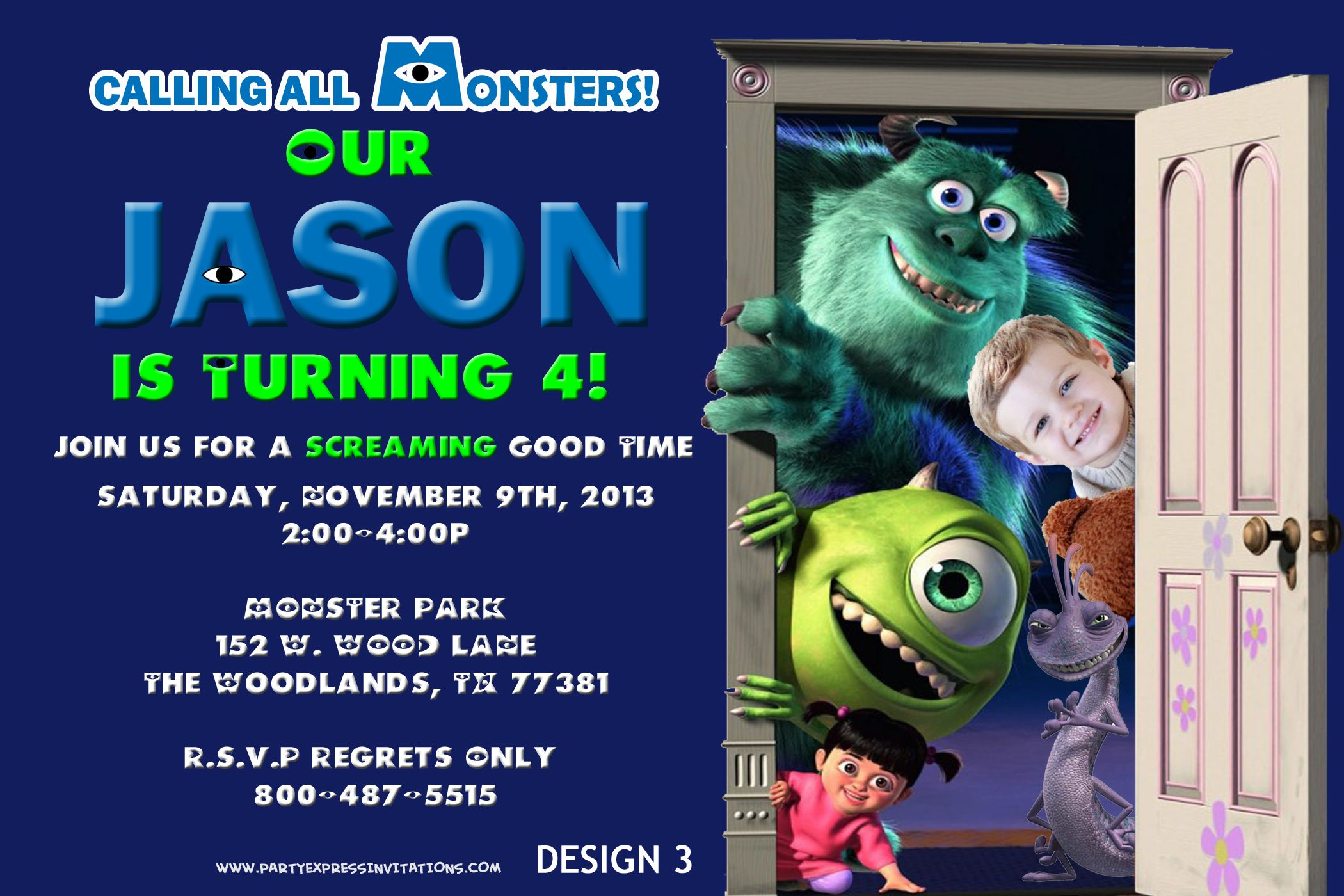 Monsters Inc University Birthday Invitations from Party Printables ...