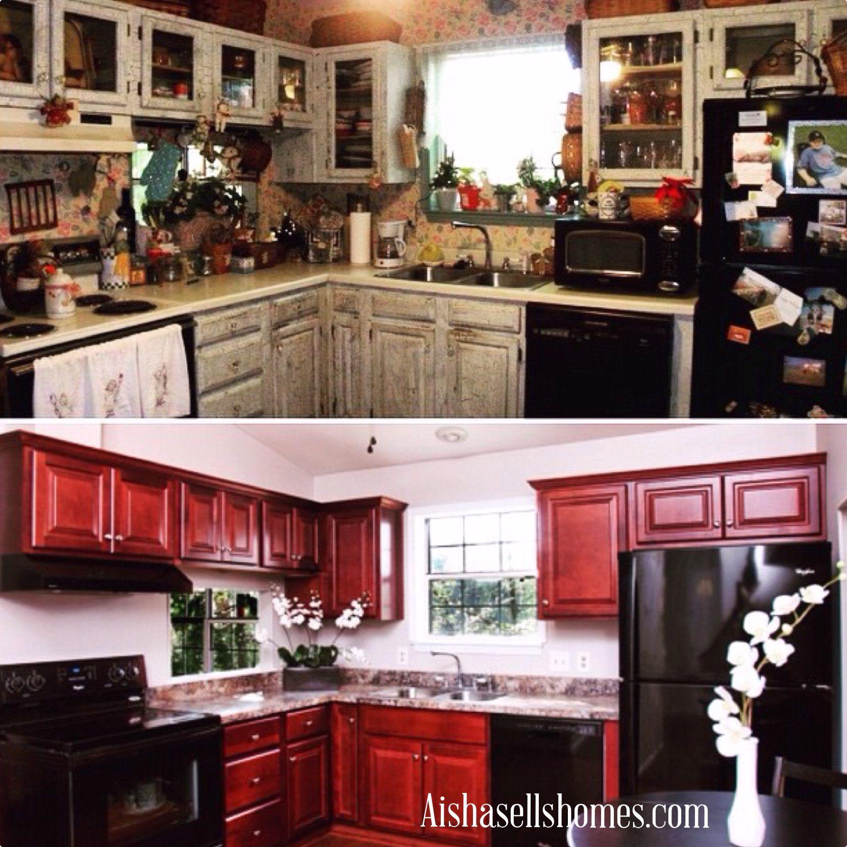 Before Aisha After Aisha Kitchen Cabinets Kitchen Home Decor