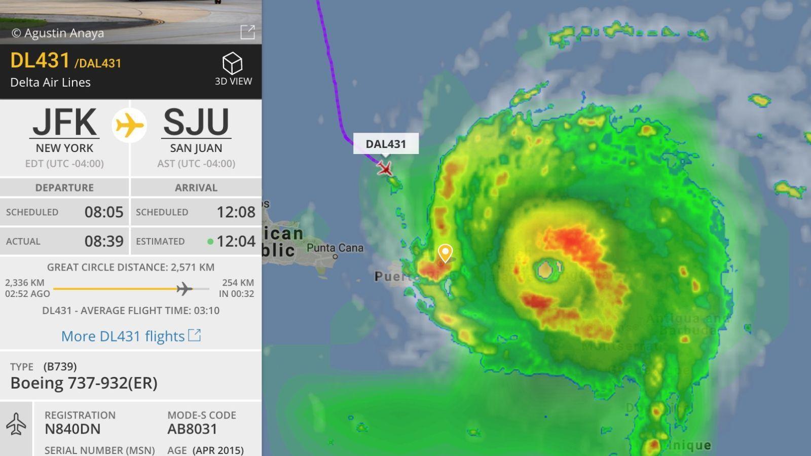 Were You On This Delta Plane That Flew Into Hurricane Irma Updated Delta Plane Delta Flight Jfk