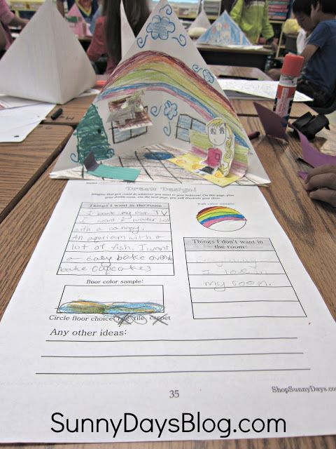 Great end of the year project Kids design their dream room on a - sample project sheet