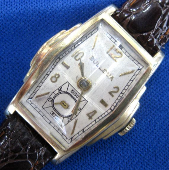 1938 Bulova Deco Manual Wind Wristwatch By Neighborhoodwatchco 230 00 Wrist Watch Bulova Items