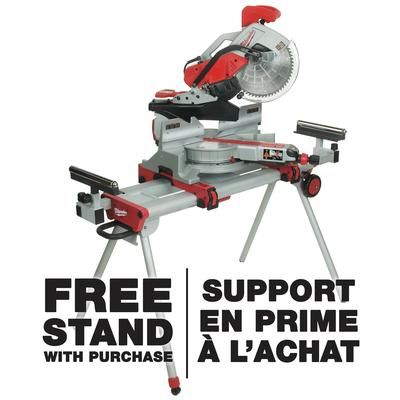 Milwaukee Milwaukee 12 In Dual Bevel Sliding Mitre Saw Free Stand With Purchase 6955 20 Sliding Mitre Saw Sliding Compound Miter Saw Miter Saw