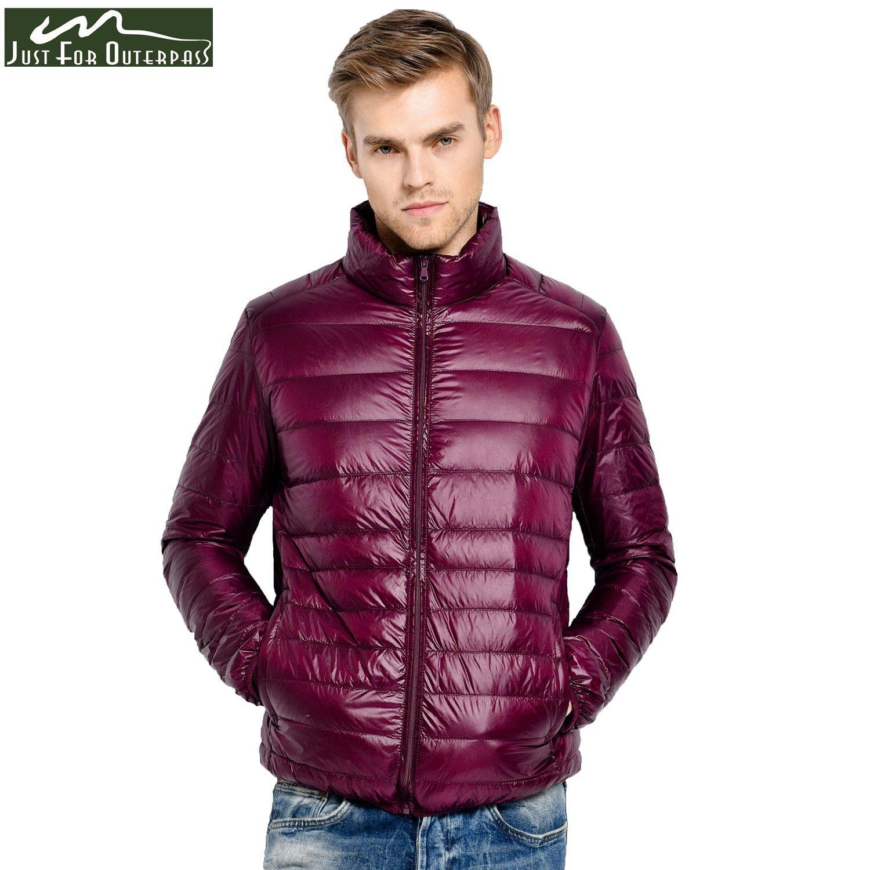 6283e10669d14 2018 New Winter Down Jacket Men 90 White Duck Down Coat Ultralight Down  Jacket Male Windproof
